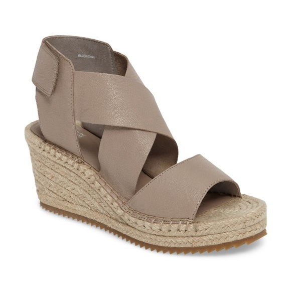 d08bee3180a Eileen Fisher Willow Oyster Espadrille Wedges NWT